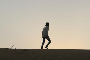 Leelou, chamelier dans le désert du Thar